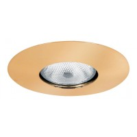 "6"" Recessed lighting Par 30 R 30 polished brass open trim"