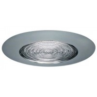 "6"" Recessed lighting fresnel lens chrome shower trim"