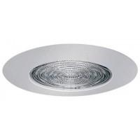 """6"""" Recessed lighting fresnel lens white shower trim"""