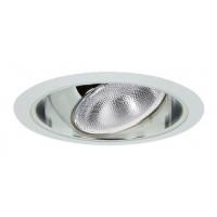 "6"" Recessed lighting Par 30 R 30 chrome regressed eyeball clear chrome reflector white trim"