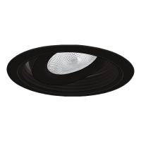 "6"" Recessed lighting Par 30 black regressed gimbal ring black baffle black trim"