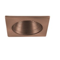 "6"" Recessed lighting bronze stepped baffle bronze square trim"