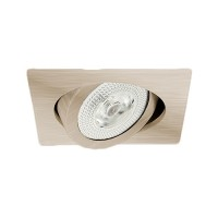 "6"" Recessed lighting Par 30 satin nickel square gimbal ring trim"