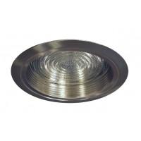 "6"" Recessed lighting compact fluorescent fresnel glass lens satin baffle satin shower trim"