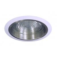 "6"" Recessed lighting compact fluorescent fresnel glass lens satin baffle white shower trim"