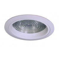 "6"" Recessed lighting compact fluorescent fresnel glass lens white baffle white shower trim"