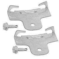 Torsion spring bracket clips for recessed housings