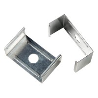 LED mounting clip for flat surfaces