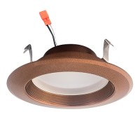 "4"" LED recessed lighting 13watt retrofit bronze baffle trim cool white 5000K dimmable"