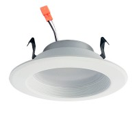 "4"" dimmable LED recessed lighting 13watt retrofit white baffle trim cool white 5000K DL4DWP-13W-50K"