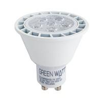 Recessed lighting Green Watt LED 7watt GU10 MR16 3000K 40° flood light bulb dimmable G-L6-MR16GU10D-7W-30K-40