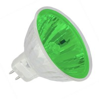 Recessed lighting Green lens colored EXN MR16 50 watt 12 volt flood halogen light bulb