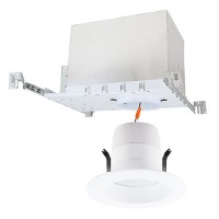 "4"" LED recessed lighting IC AT new construction housing 3000K white LED retrofit trim kit Energy Star warm white"