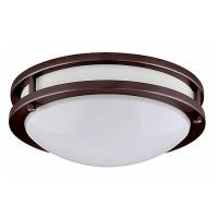 "LED 17"" two ring bronze ceiling surface light flush mount warm white 3000K dimmable LED-JR003L/BZ-W"