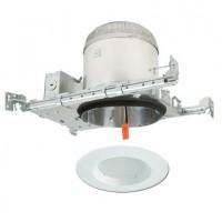 "6"" LED recessed lighting kit new construction IC AT housing white LED retrofit"