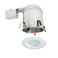 "6"" LED recessed remodel lighting kit remodel IC AT housing white LED retrofit trim"
