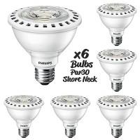 Case of 6 Recessed lighting Philips 435305 LED Par30 short neck 12watt 3000K 25° retail optic AirFlux light bulb