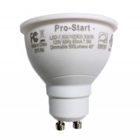Recessed lighting Pro-Start LED 7.5watt GU10 MR16 3000K 40° flood light bulb dimmable LED-7.5GU10D830