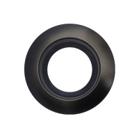 "Sylvania 70696 RT4/TRIM/BLK 4"" black reflector black trim ring kit for ULTRA RT4 LED retrofit trim"