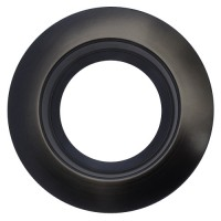 "Sylvania 70708 RT6/TRIM/BLK 6"" black reflector black trim ring kit for ULTRA RT6 LED retrofit trim"
