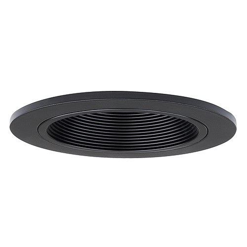 4 Quot Recessed Lighting Led Retrofit Black Baffle Black Trim