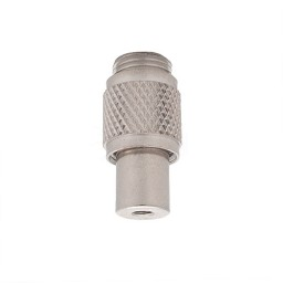 CC-1/4X1/8-IP cable coupler 1/4-20 thread, external 1/8-IP threaded for checkered barrel coupling