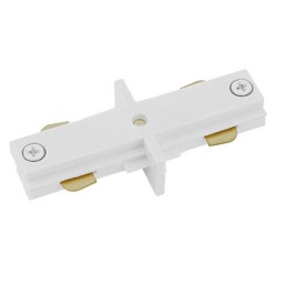 Track lighting architectural white straight connector mini joiner 3-wire H style single circuit