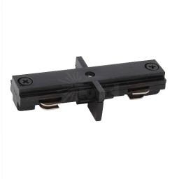 Track lighting Architectural Black straight connector mini joiner 3-wire H-style single circuit