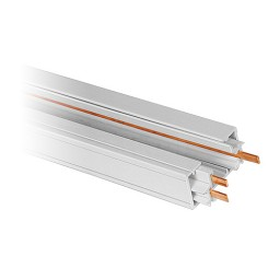 4' architectural white power track 3-wire H-style
