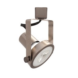 LED Gimbal SATIN NICKEL track light with PAR30 LED bulb