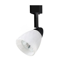 GU10 MR16 BLACK cylinder cone White glass shade track light fixture head
