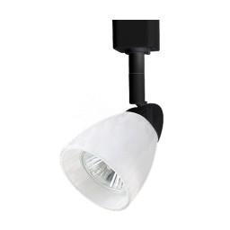 GU10 MR16 BLACK cylinder cone White glass shade track light fixture head