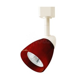 GU10 MR16 WHITE cylinder cone Red glass shade track light fixture head