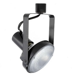 PAR38 BLACK front loading gimbal ring track light fixture head