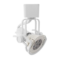 GU10 MR16 WHITE wire gimbal ring track light fixture head