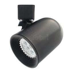 LED BLACK round back track light fixture head with warm white GU10 MR16 120volt bulb