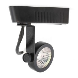 BLACK gimbal ring MR16 low voltage 120/12v LED track light fixture head