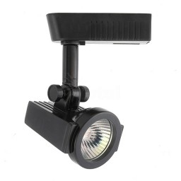 Architectural Black razor back mini deco MR16 low voltage track light fixture head