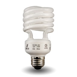 Dimmable Spiral Compact Fluorescent - CFL - 23 watt - 27K