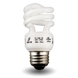 Mini Spiral Compact Fluorescent - CFL - 11 watt - 27K