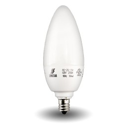 Candle Shape Compact Fluorescent - CFL - 7watt - 27K