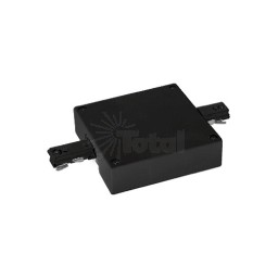 Center power feed track limiter coupler architectural BLACK 3-wire H style single circuit title 24 compliant