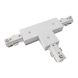 2 Circuit Track T connector architectural white H-style