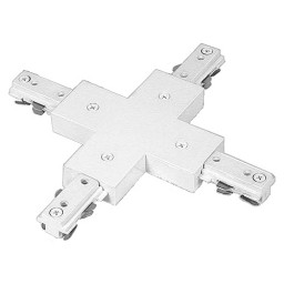 2 Circuit Dual Track X connector architectural white H-style
