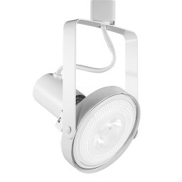 PAR38 White front loading gimbal ring track light fixture head