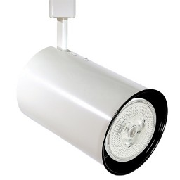 PAR20 WHITE flat back cylinder track light fixture 3-wire H-style