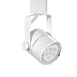 LED WHITE mini round track light fixture head warm white GU10 MR16 120volt bulb