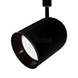 PAR38 BLACK round back cylinder Black baffle track light fixture