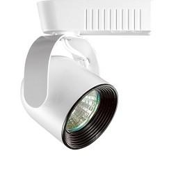 White baffle Black round back bullet low voltage track light fixture for 12v MR16 bulb