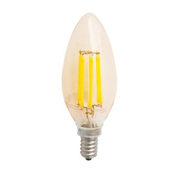 Track lighting LED vintage filament 4watt candelabra 2200K light bulb dimmable G-CAD4W22